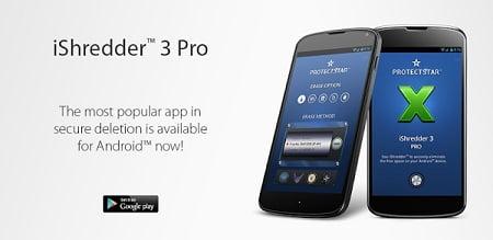دانلود نرم افزار پاک سازي اطلاعات iShredder 3 PRO v3.0.6 براي اندرويد