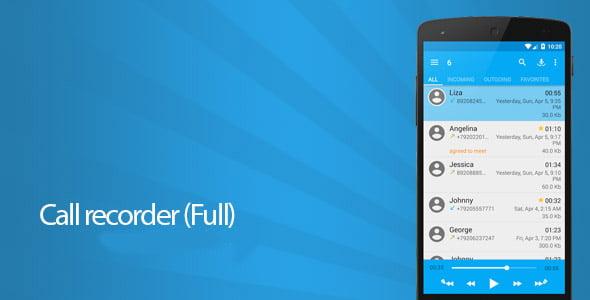 دانلود Call recorder (Full) 3.0.4 – ضبط مکالمات تلفنی اندروید