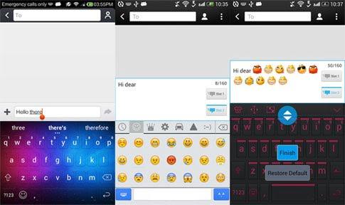 دانلود iKeyboard – emoji,emoticons 3.4 – برنامه کیبورد اندروید