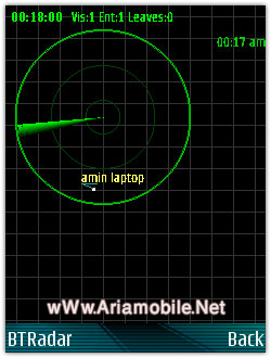 نرم افزار رادار بلوتوث Symbian S60 3rd – BtRadar v1.00