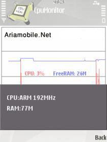 نمايش وضعيت Cpu گوشي به صورت نمودار CPU Monitor 1.10