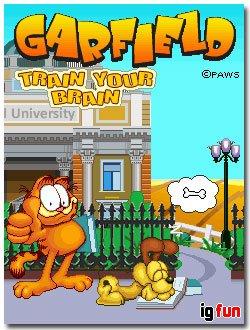 بازي گارفيلد Garfield-Train Your Brain جاوا