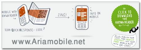 انتقال اس ام اس و شماره تلفن به گوشی از طریق دوربین ( KaywaReader )