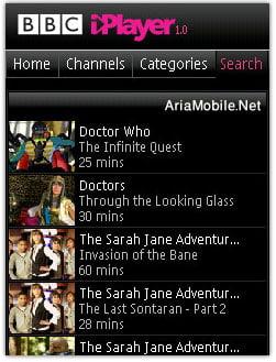 برنامه پخش شبکه BBC برای موبایل ,سری 60 ورژن 3 -BBC iplayer