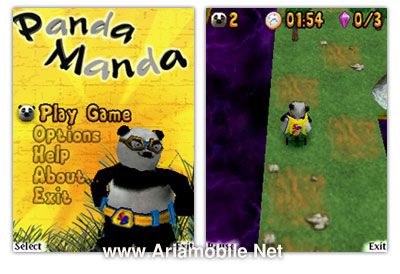 بازی Panda.manda برای گوشی های دارای شتاب سنج n82,n95,n93i,5500