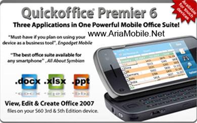 نرم افزار آفیس برای گوشی های نوکیا Quickoffice AM v6.02.675 S60v3