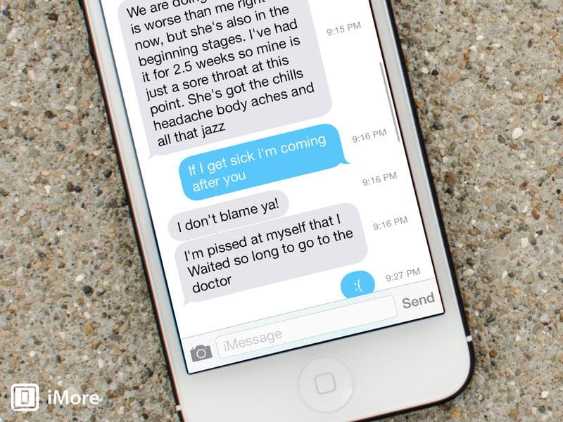 آموزش نحوه اضافه کردن ساعت ارسال و دریافت پیام در iOS 8